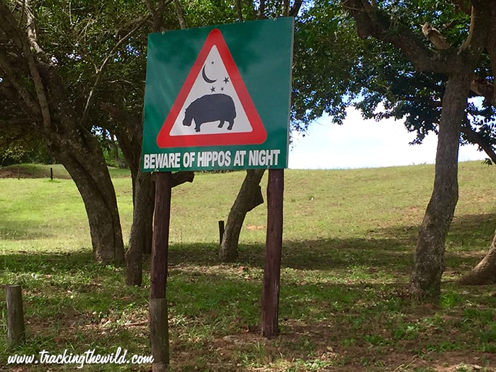 Hippo warning sign, St Lucia